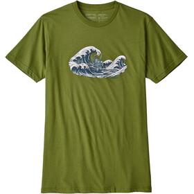 Patagonia Oily Olas Organic t-shirt Heren olijf